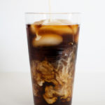 Cold brew coffee with vanilla sweet cream